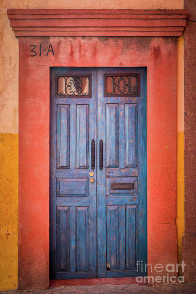 San Miguel De Allende Wall Art - Photograph - Blue Door by Inge Johnsson