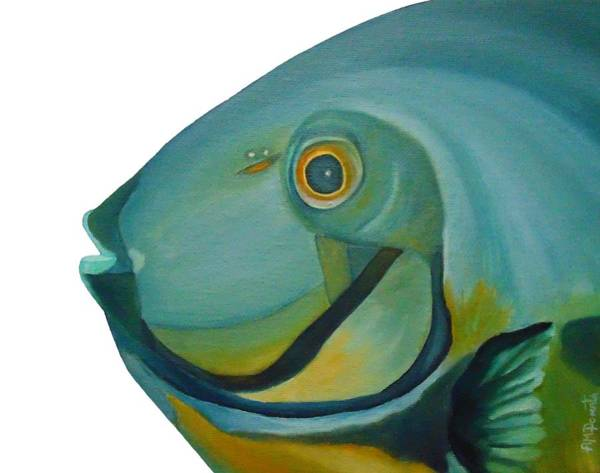 Painting - Blue Fish by Angeles M Pomata