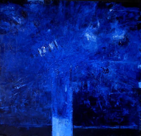 Wall Art - Painting - Blue Flowers by Vladimir Vlahovic