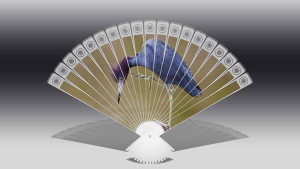 Heron Mixed Media - Blue Heron by Love Art