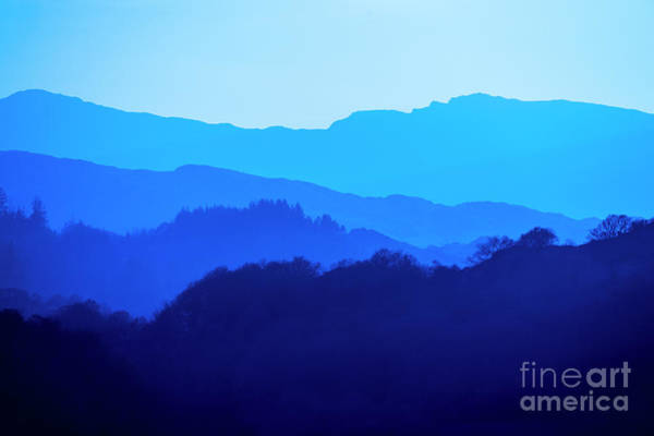 Photograph - Blue Hills In Snwodonia National Park Wales Uk by Keith Morris