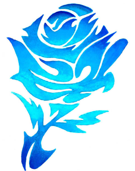 Painting - Blue Rose by Sarah Krafft