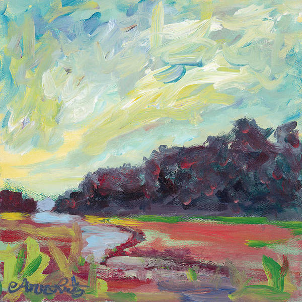 Wall Art - Painting - Blue Skies by Ann Lutz