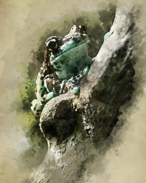 Wall Art - Digital Art - Blue Tree Frog by Jaroslaw Blaminsky