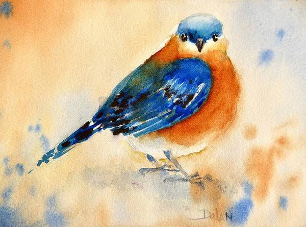 Painting - Bluebird #3 by Pat Dolan
