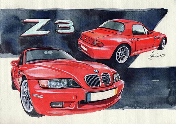 Bmw Painting - Bmw Z3 by Yoshiharu Miyakawa