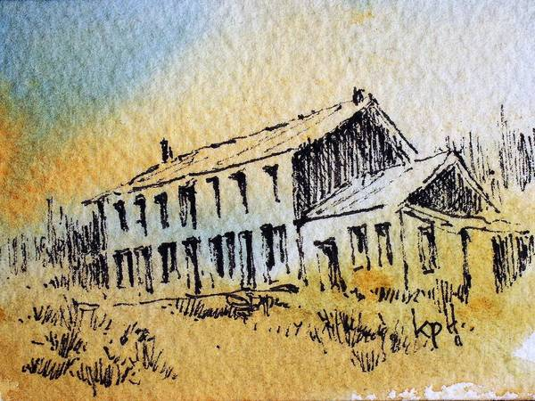 Mixed Media - Boardinghouse Cable Ghost Town Montana by Kevin Heaney