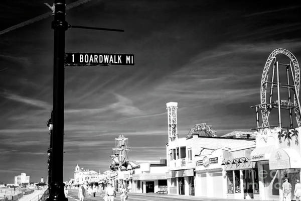 1 Boardwalk Mile At Ocean City Infrared Art Print by John Rizzuto