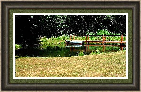 Photograph - Boat And Catwalk Framed by Jerry Sodorff
