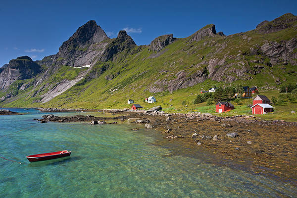 Photograph - Boat, Sea And Mountains by Aivar Mikko