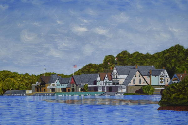 Philae Painting - Boathouse Row by Michael Walsh