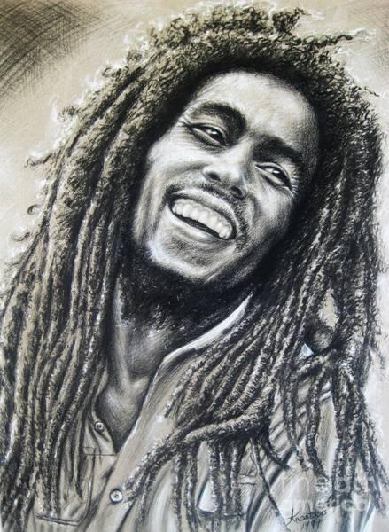 The Wailers Painting - Bob Marley by Anastasis  Anastasi