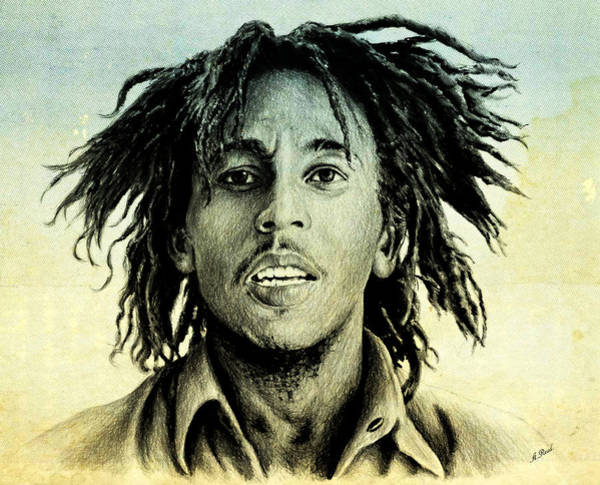 Nostalgia Drawing - Bob Marley by Andrew Read