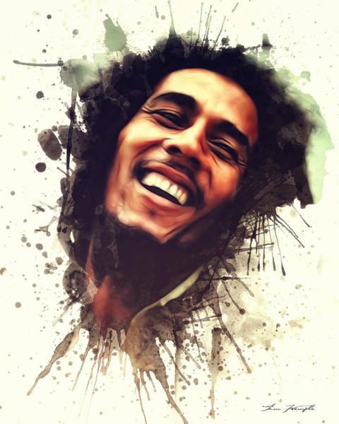 Digital Art - Bob Marley by Tim Wemple