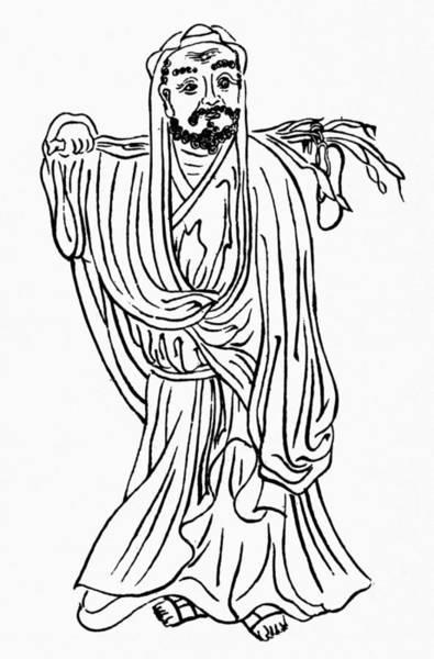 Wall Art - Photograph - Bodhidharma (fl. 520 A.d.) by Granger
