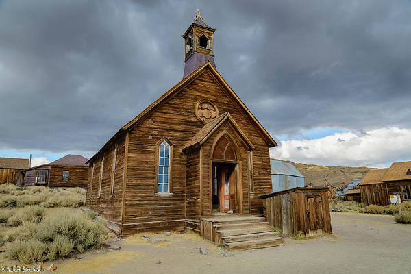 Bodie Ghost Town Wall Art - Photograph - Bodie Church by Mike Ronnebeck