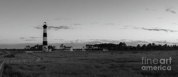 Wall Art - Photograph - Bodie Island Light Sunset Pano Bw by Michael Ver Sprill