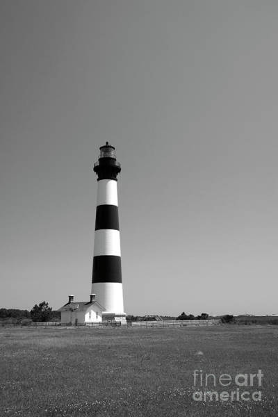 Photograph - Bodie Island Lighthouse In Black And White by Jill Lang