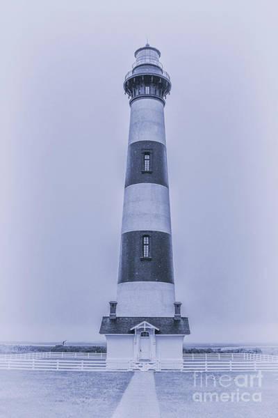 Bodie Digital Art - Bodie Island Lighthouse In Blue by Randy Steele