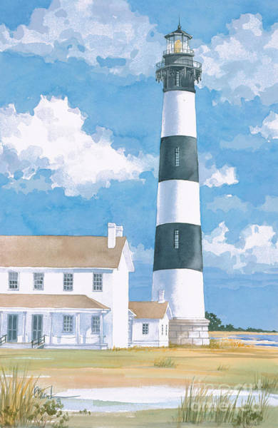 Bodie Painting - Bodie Island Lighthouse by Paul Brent