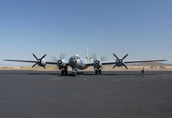 Superfortress Photograph - Boeing B-29 Superfortress N529b Fifi Deer Valley Airport April 13 2011 by Brian Lockett