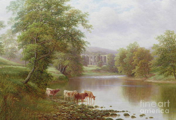 Bolton Wall Art - Painting - Bolton Abbey by William Mellor