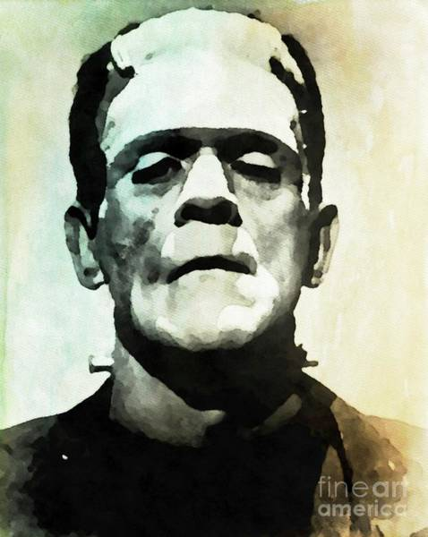 Frankenstein Painting - Boris Karloff As Frankenstein by John Springfield