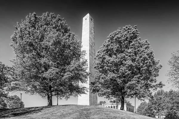 Wall Art - Photograph - Boston Bunker Hill Monument - Monochrom by Melanie Viola