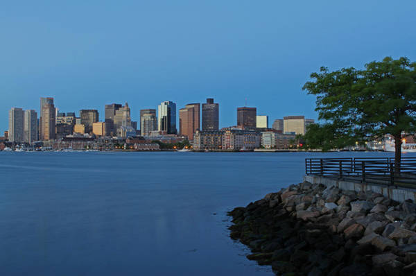 Photograph - Boston City Skyline by Juergen Roth