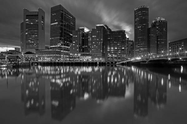 Photograph - Boston Night Lights by Juergen Roth
