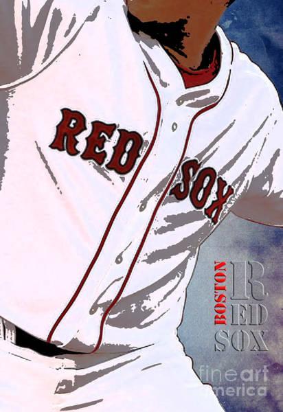 Wall Art - Painting - Boston Red Sox Uniform by Drawspots Illustrations