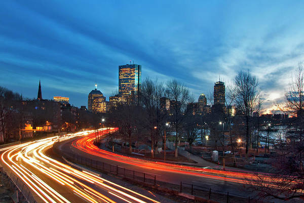 Photograph - Boston Skyline From Storrow Drive by Joann Vitali