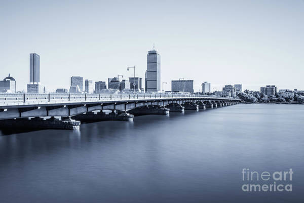 Wall Art - Photograph - Boston Skyline Harvard Bridge Back Bay Photo by Paul Velgos