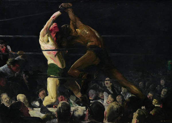 Painting - Both Members Of This Club by George Bellows