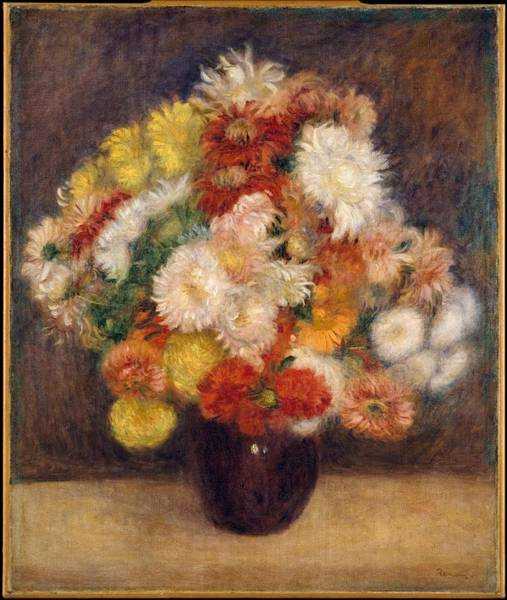Wall Art - Painting - Bouquet Of Chrysanthemums by Auguste Renoir
