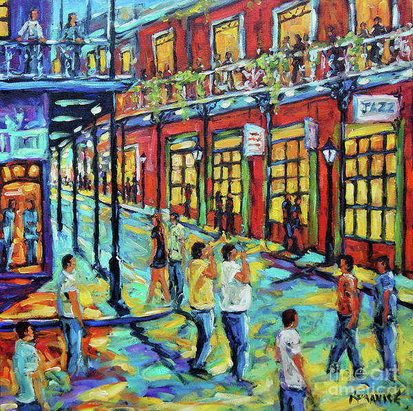 Wall Art - Painting - Bourbon Street New Orleans By Prankearts by Richard T Pranke