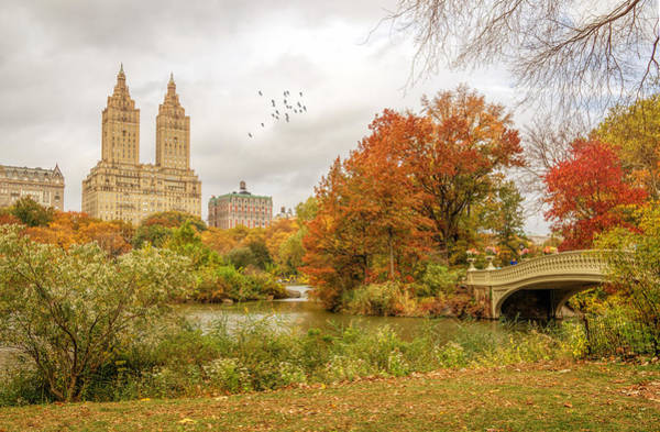 Wall Art - Photograph - Bow Bridge In Autumn by June Marie Sobrito