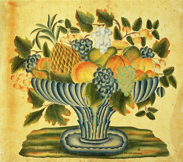 Painting - Bowl Of Fruit by William Stearns