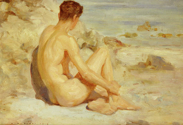 Painting - Boy On A Beach by Henry Scott Tuke
