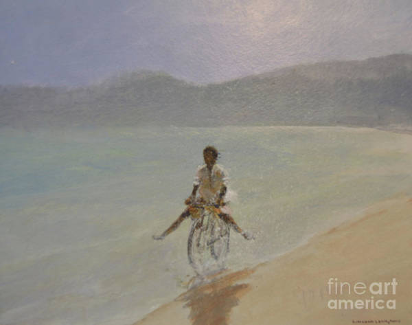 Happy Boy Painting - Boy On A Bike by Lincoln Seligman