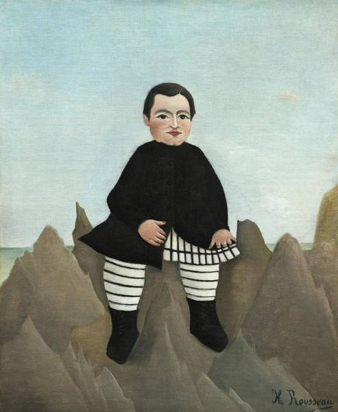 Painting - Boy On The Rocks by Henri Rousseau