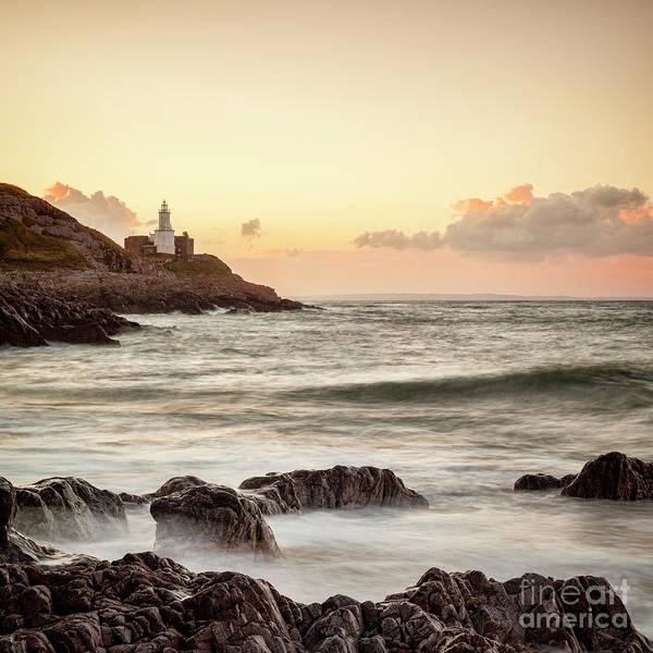 Bracelet Bay And The Mumbles Lighthouse Art Print