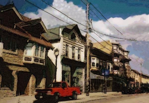 Brady Street Scene Art Print