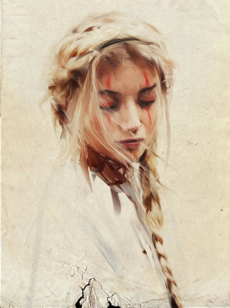 Beauty Drawing - Braid by H James Hoff