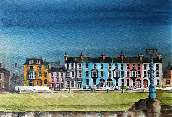 Painting - F  731 Bray, Esplanade Tce., Wicklow. by Val Byrne