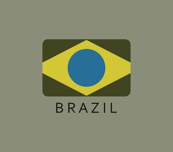 Illustration Digital Art - Brazil Flag by Marco Livolsi