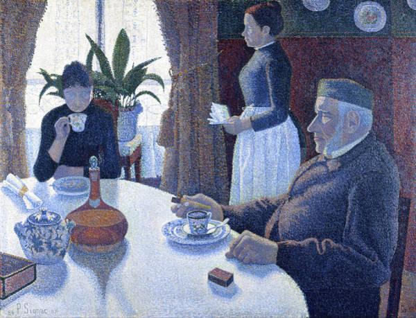Painting - Breakfast by Paul Signac