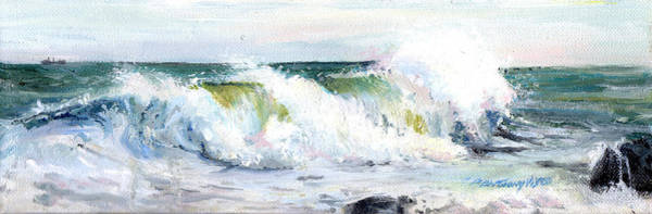 Wave Breaking Painting - Breaking Seas by P Anthony Visco
