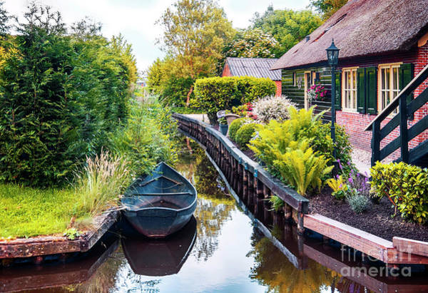 Photograph - Bridge And River In Old Dutch Village by Ariadna De Raadt