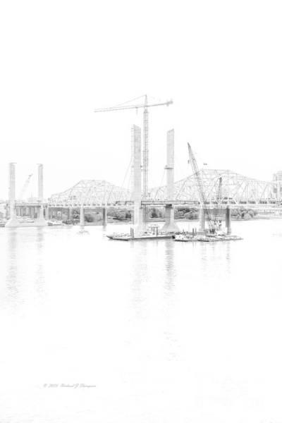 Photograph - Bridge Construction by Richard J Thompson